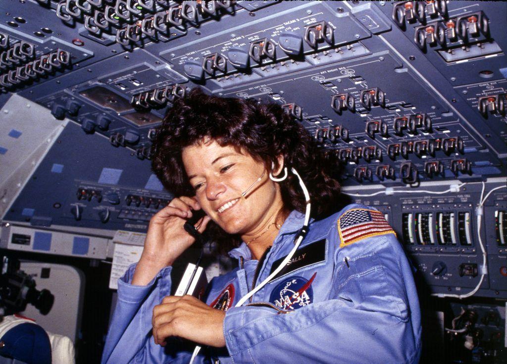 Sally Ride communicating