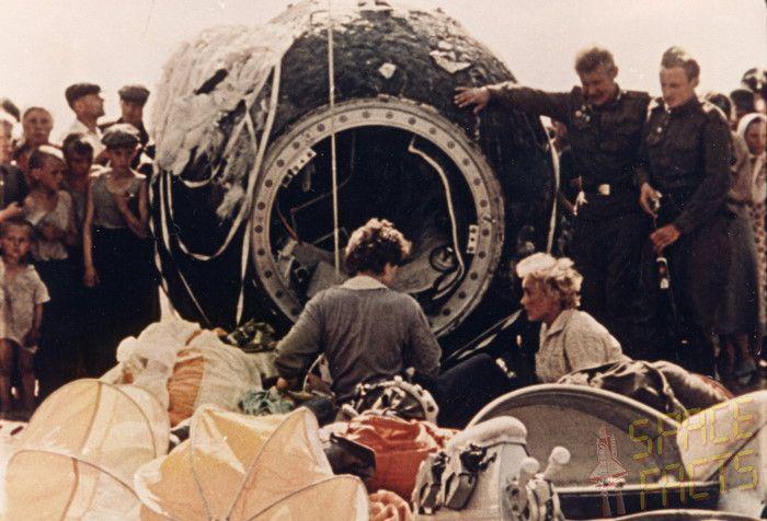 Valentina Tereshkova aterrizaje