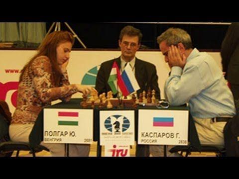 Judit Polgar and Kasparov