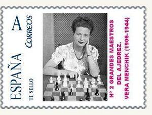 Stamp Vera Menchik