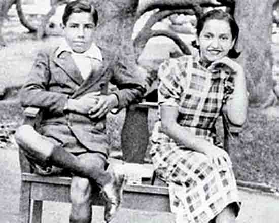 Violeta and her brother