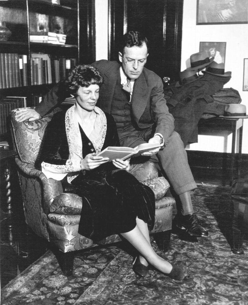 Amelia Earhart and her husband