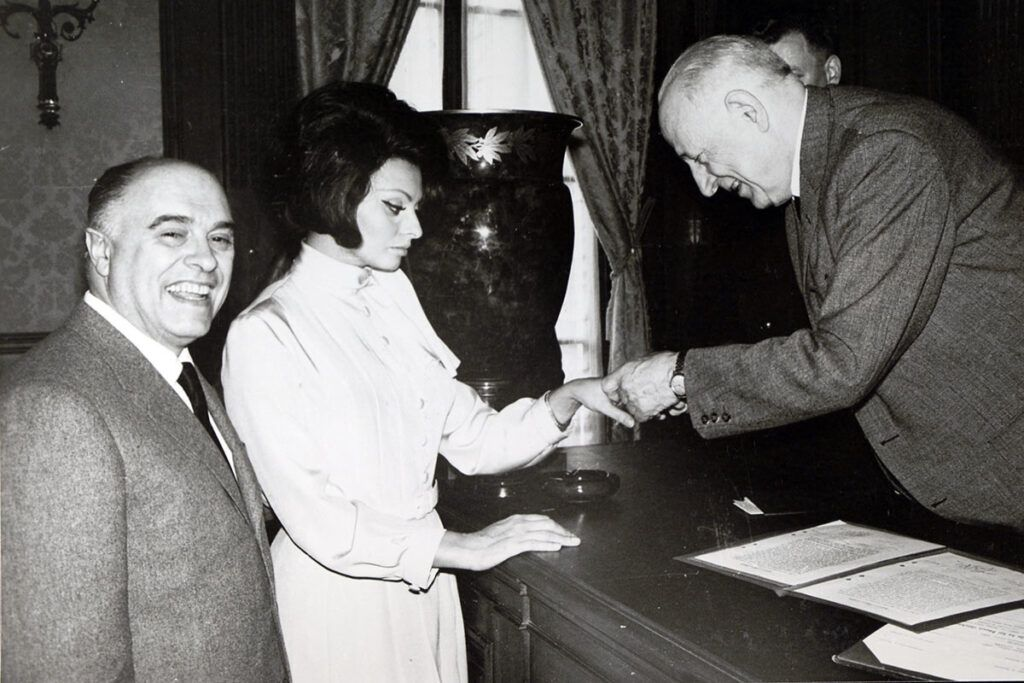 Sophie and Carlo Ponti